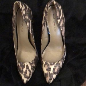 Bandolino Shoes - BANDOLINO ANIMAL PRINT HEELS WOMENS SIZE 6.5 M